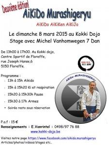 Michel Vanhomwegen annonce de stage