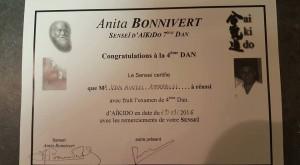 Yondan pour notre sensei Emmanuel Van Rintel