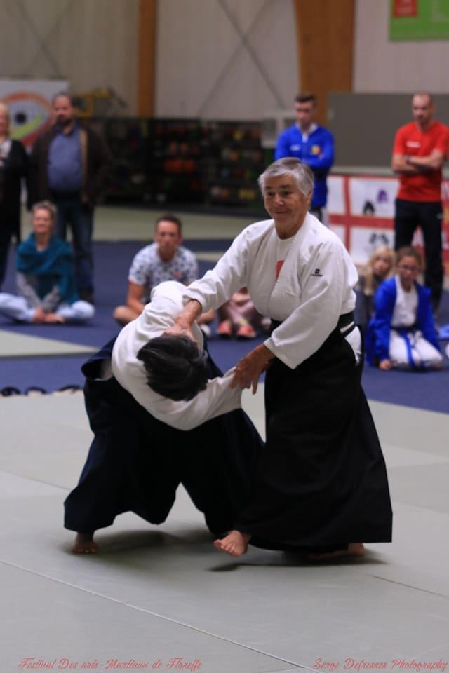 aïkido à Floreffe avec Anita Bonnivert